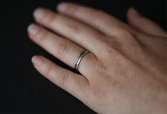 Hammered Sterling Silver Stacking Ring