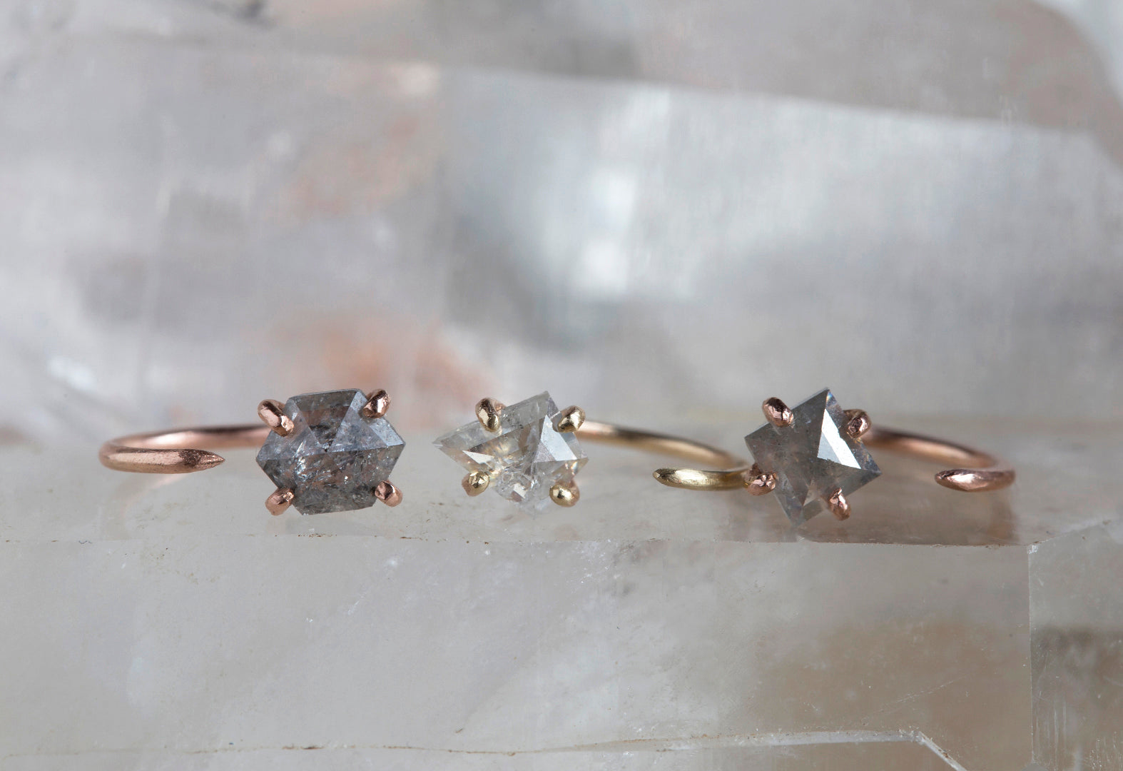 Custom Natural Rose Cut Diamond Huggie Stud