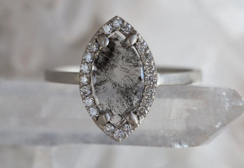 Custom Natural Diamond Slice Ring