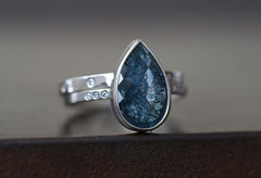 One of a Kind Blue Diamond Ring