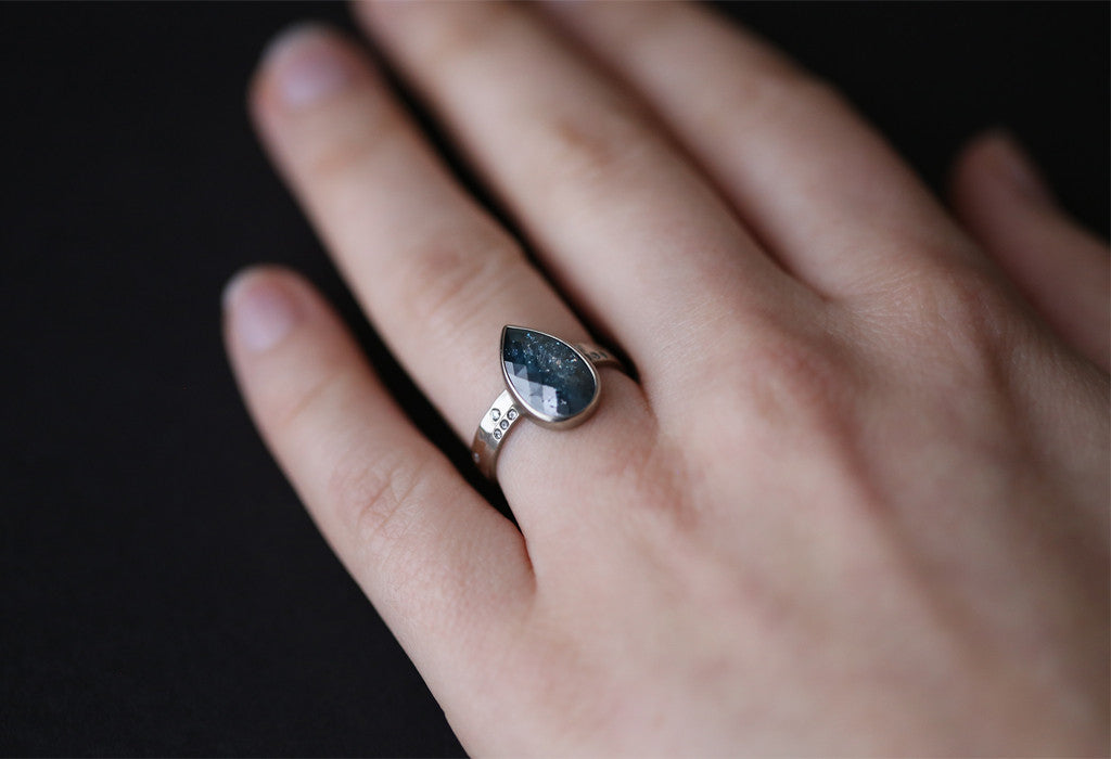 One of a Kind Blue Diamond Ring – Alexis Russell