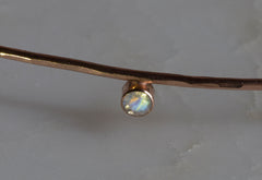 Rainbow Moonstone Choker Cuff Necklace