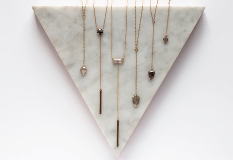 One of a Kind Geometric Diamond Lariats