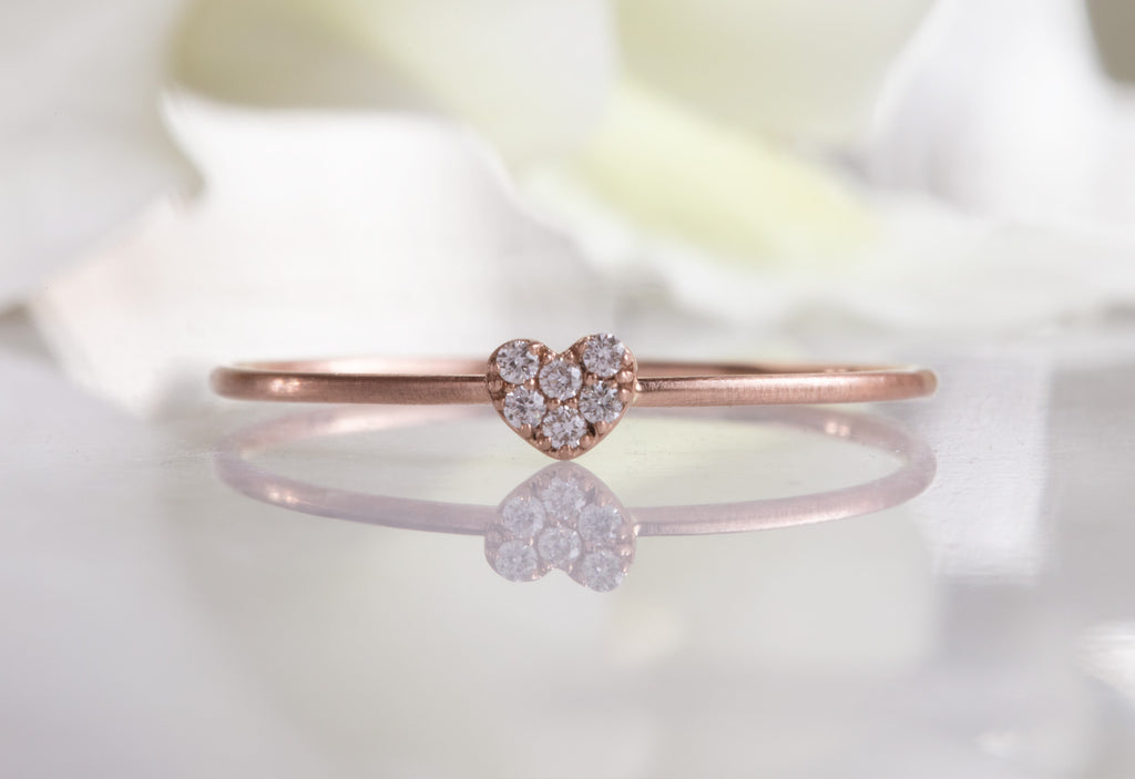Sweetheart Pavé Diamond Ring