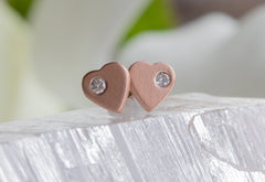 Sweetheart Diamond Stud Earrings