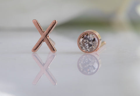 'XO' Diamond Stud Earrings