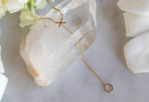 'XO' Lariat Necklace