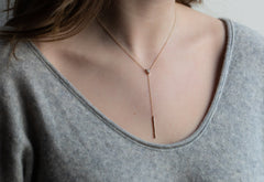 Trillion Diamond Lariat Necklace