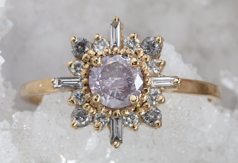 Lavender Diamond Compass Engagement Ring