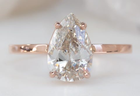 One of a Kind Pale Pink Diamond Solitaire Engagement Ring