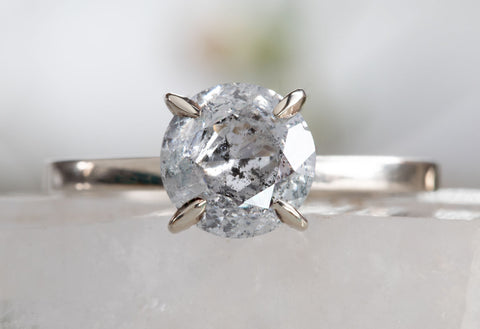 One of a Kind Salt + Pepper Galaxy Diamond Engagement Ring