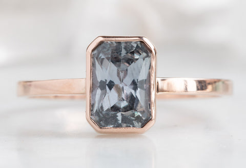 One of a Kind Emerald-Cut Sapphire Engagement Ring
