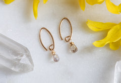 Simple Diamond Drop Earrings