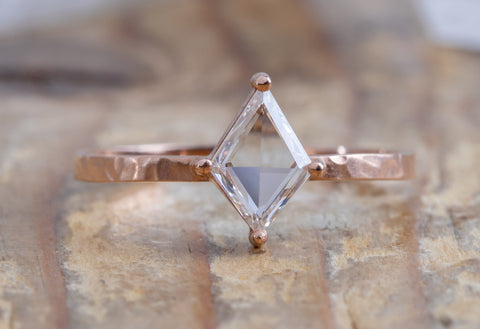One Of A Kind Geometric White Diamond Engagement Ring