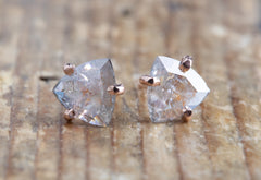 One of a Kind Rosecut Trillion Diamond Stud Earrings