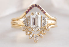 Pavé Diamond Peak Stacking Ring