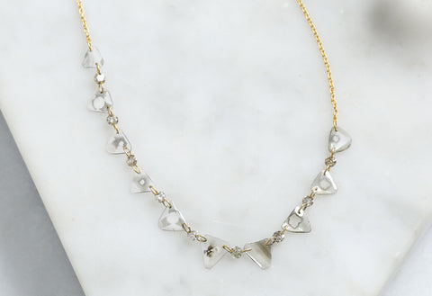 Diamond Slice Pennant Necklace
