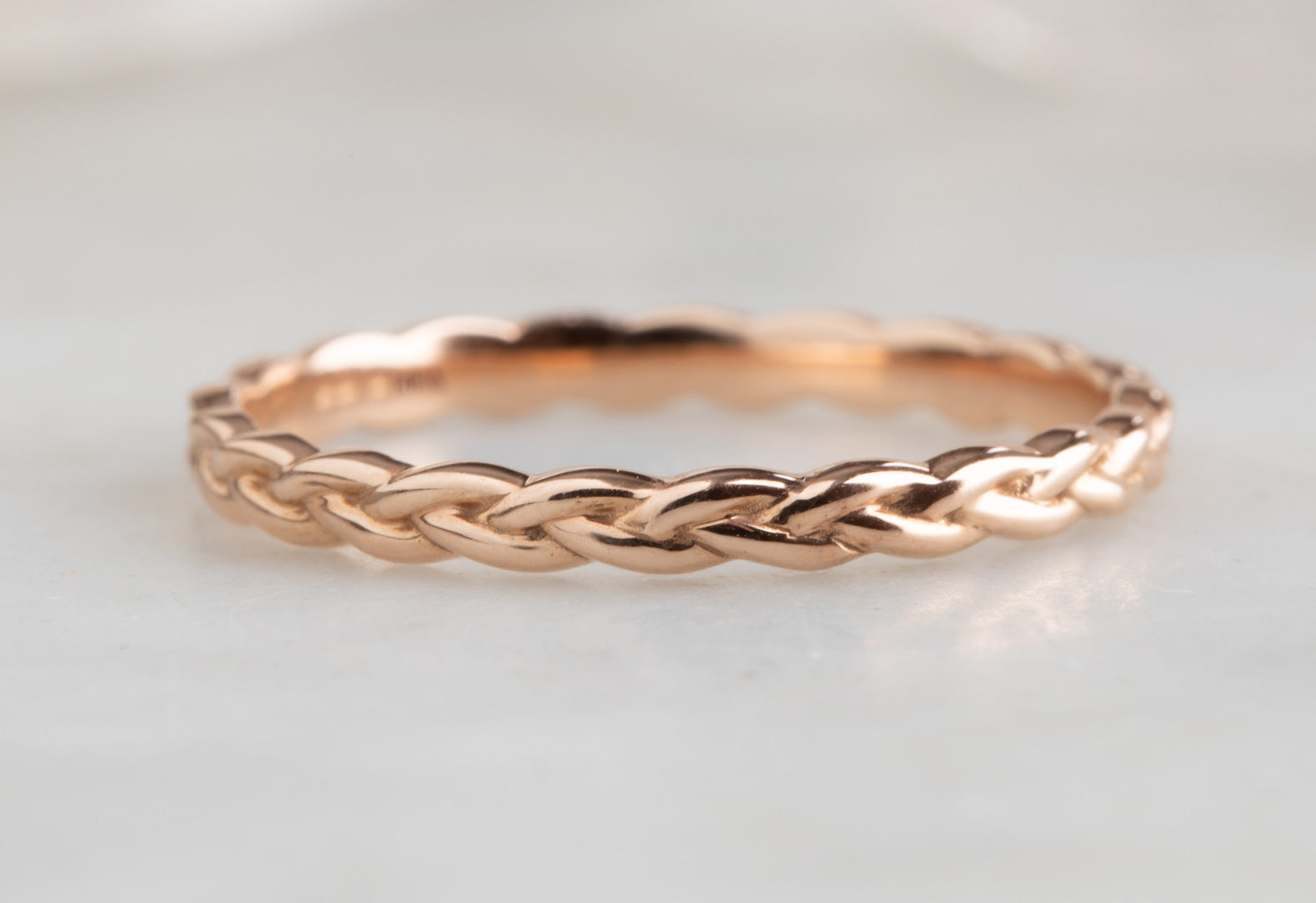 14k Gold Braided Stacking Band