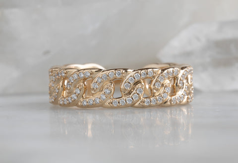 Pavé Diamond Chain Ring