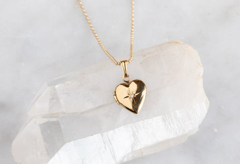 Diamond Sweetheart Locket