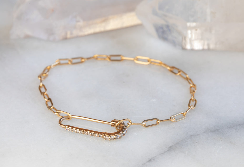 Pavé Diamond Pin Bracelet