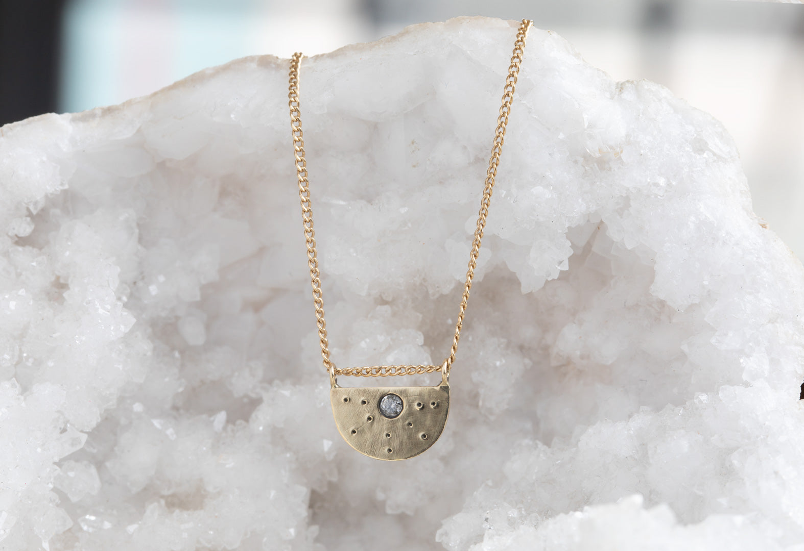 Half Moon Stardust Necklace