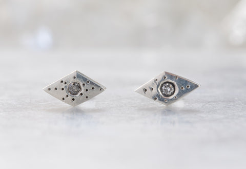 Geometric Stardust Stud Earrings
