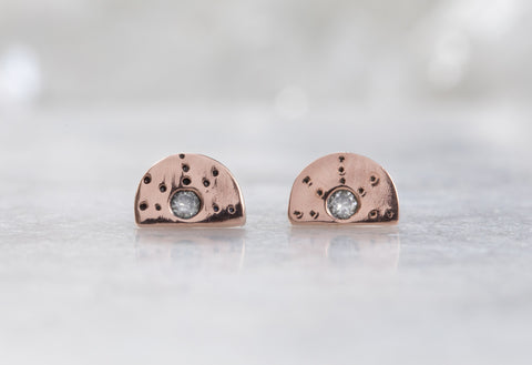 Half Moon Stardust Stud Earrings