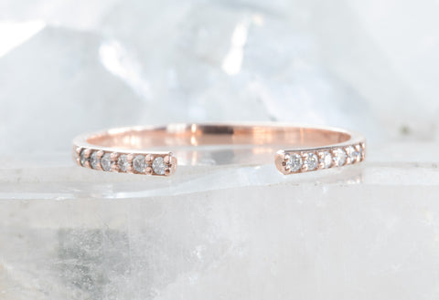 Open Cuff Pavé Diamond Band