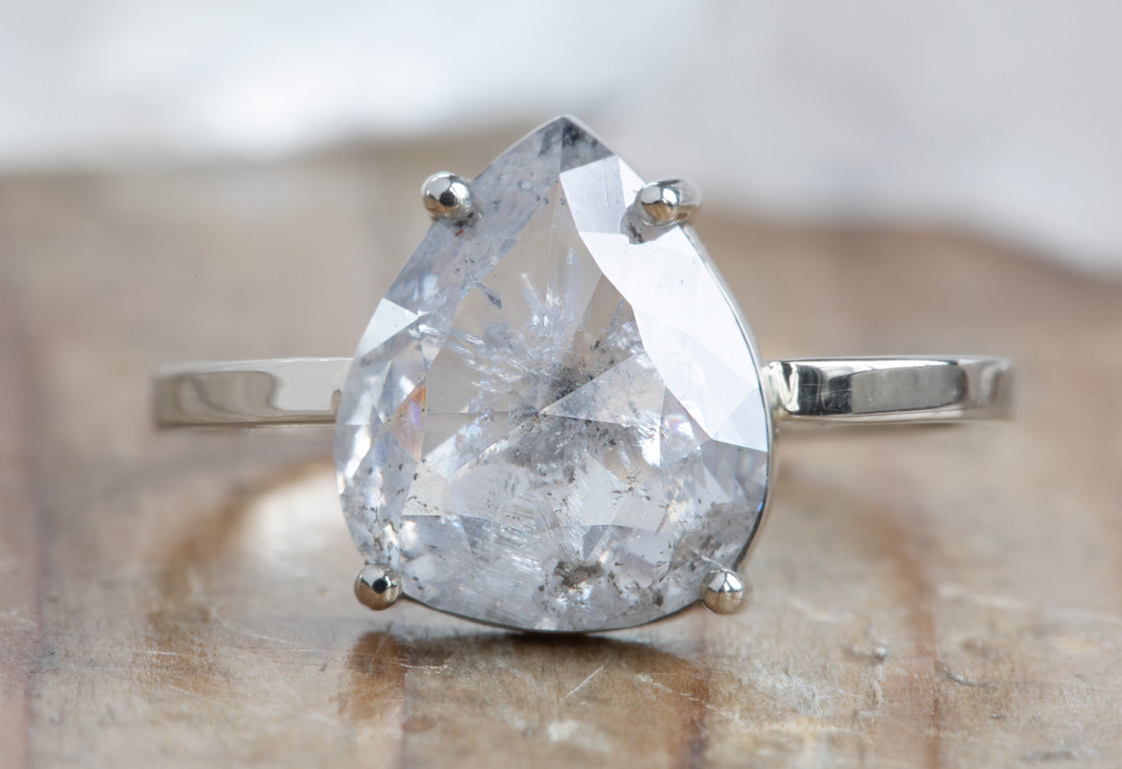 The Bryn Ring with a Salt + Pepper Rose-Cut Diamond