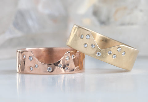 Constellation Cutout Wedding Band