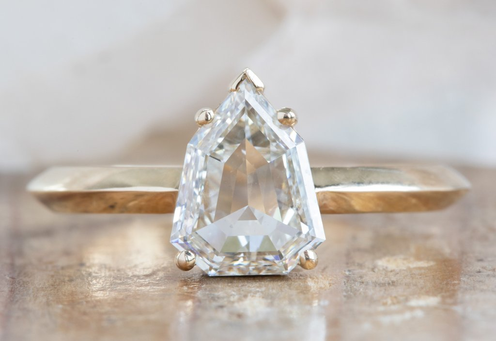 Design Your Own Custom Natural Clear-White Rose Cut Diamond Ring