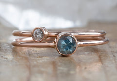 Round Cut Montana Sapphire Stacking Ring