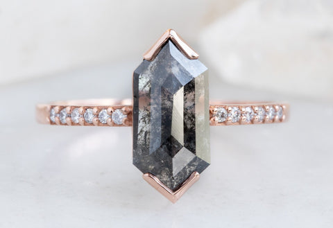 Design Your Own Custom Natural Hexagon Diamond Ring