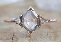 One Of A Kind Three-Stone Pale Pink Diamond Engagement Ring