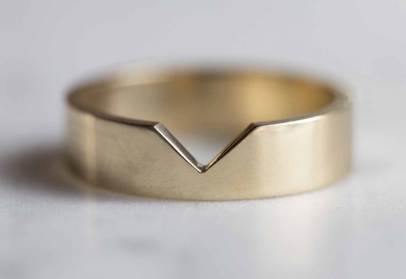 Custom 14kt Yellow Gold cut-out Wedding Band