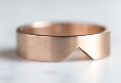Mens Custom 14kt Rose Gold Cut-Out Ring