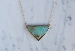 Peruvian Opal + Diamond Talisman Necklace