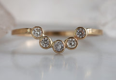 Diamond Bezel Arc Ring