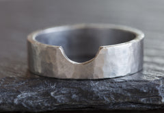 Custom 14kt White Gold cut-out Wedding Band