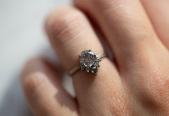 Galaxy Sunburst Diamond Engagement Ring