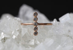 Diamond Bezel Vertical Bar Ring