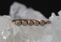 Diamond Bezel Horizontal Bar Ring