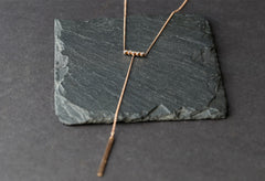 Diamond Bezel Bar Lariat Necklace