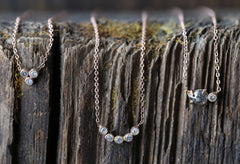Diamond Bezel Arc Necklace