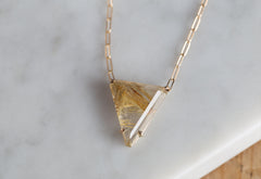 One of a Kind Rutilated Quartz Necklace