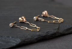 Chained Diamond Earrings