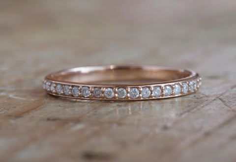 Pavé Diamond Wedding Band