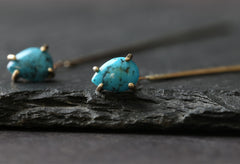 Turquoise Thread Earrings