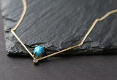 Turquoise + Diamond Peak Necklace